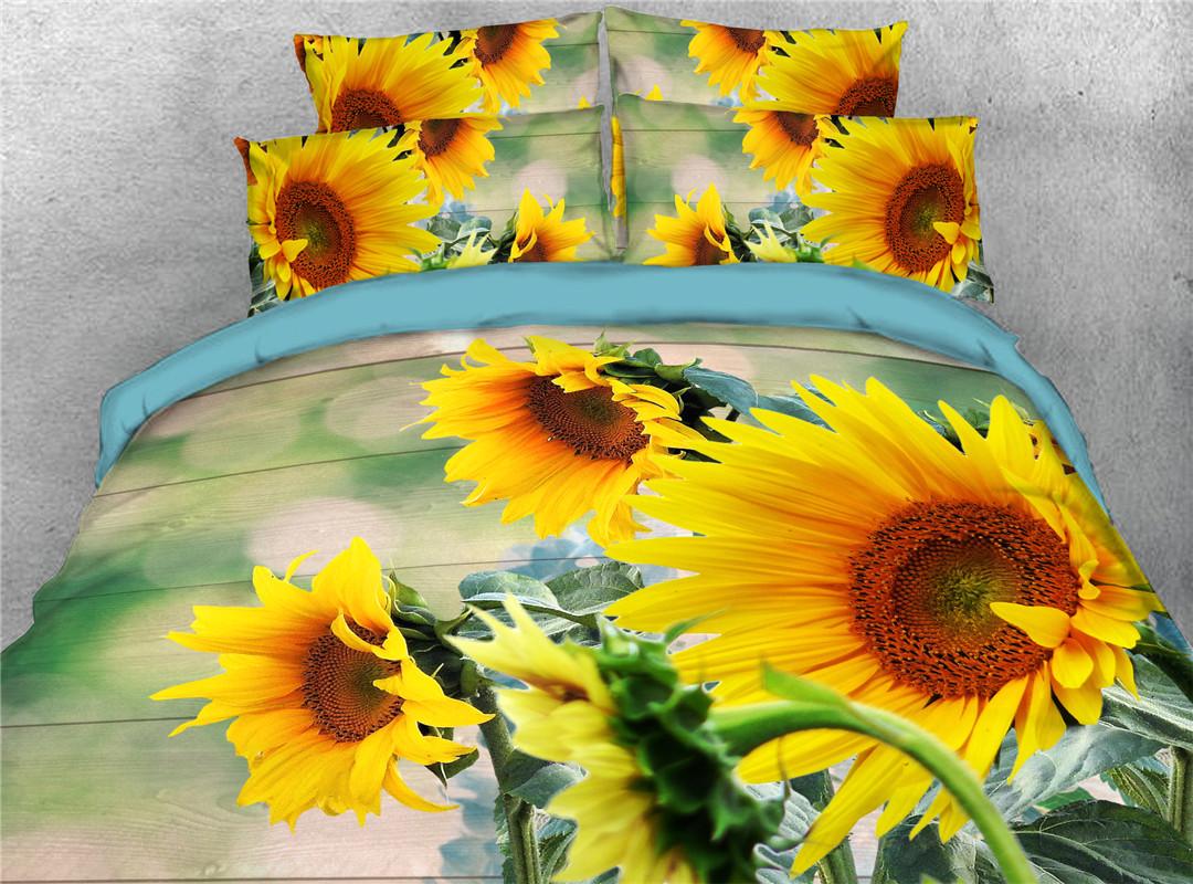 Sunflower Five-Piece Set Comforter Set Machine Wash Tencel Cotton Bedding Sets