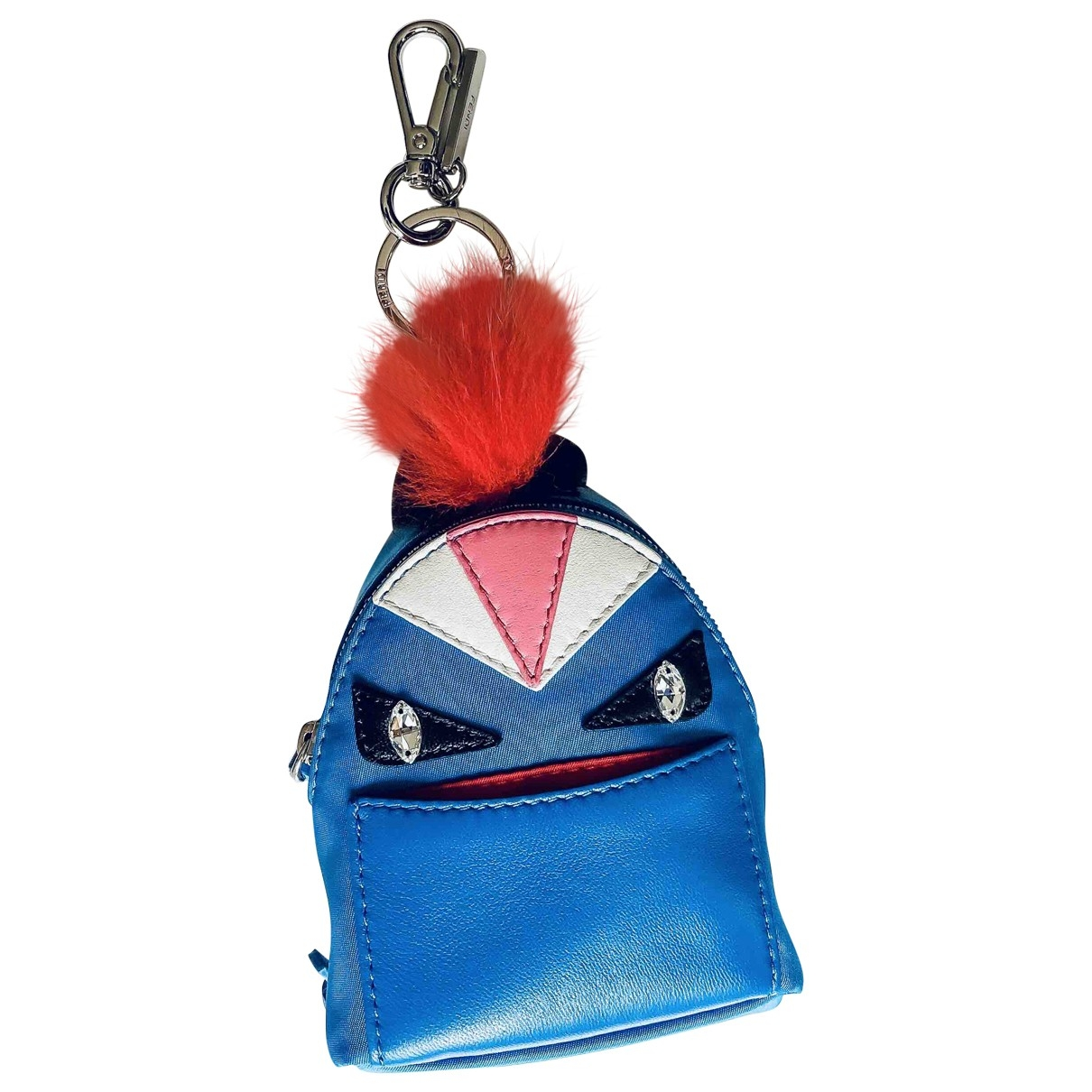 Fendi \N Blue Leather Bag charms for Women \N