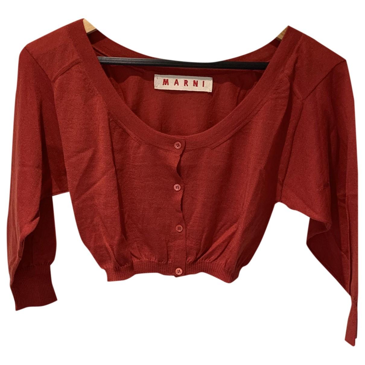 Marni - Pull   pour femme en cachemire - rouge