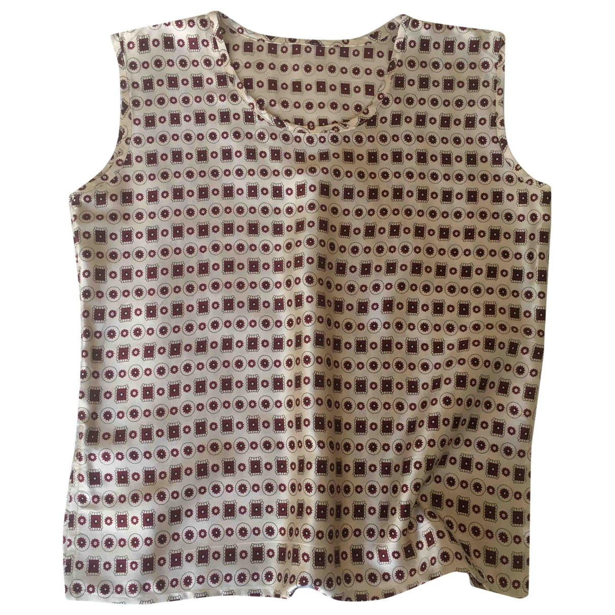 Non Signe / Unsigned \N Top in  Beige Seide