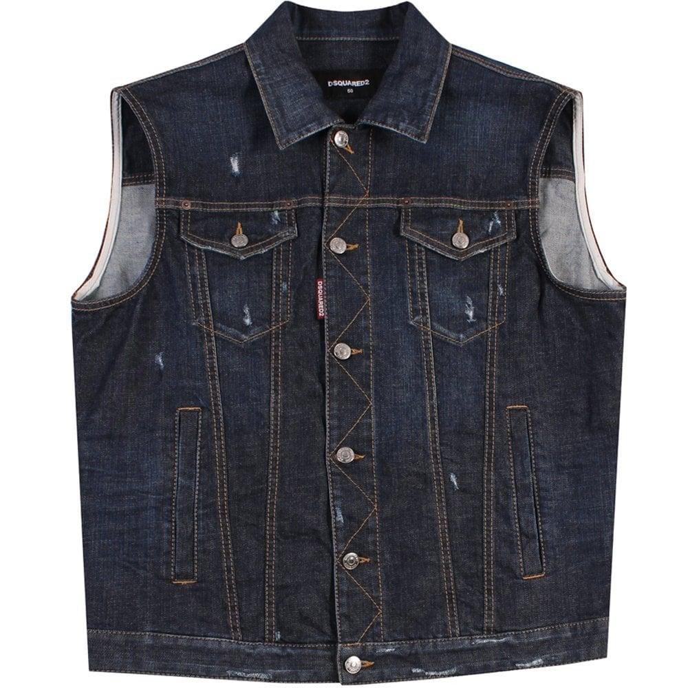 Dsquared2 Denim Vest Blue Colour: BLUE, Size: LARGE