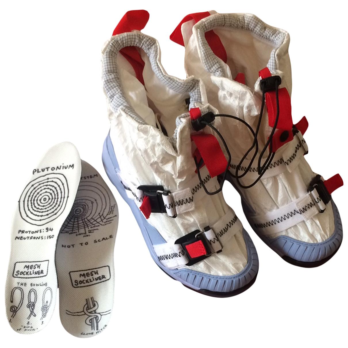 Nike X Tom Sachs \N Stiefeletten in  Weiss Leinen