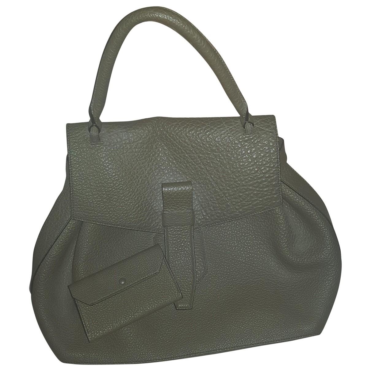 Lancel Charlie Khaki Leather handbag for Women \N