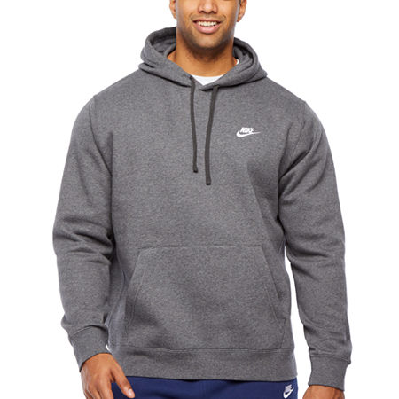 Nike-Big and Tall Mens Long Sleeve Embellished Hoodie, X-large Tall , Gray