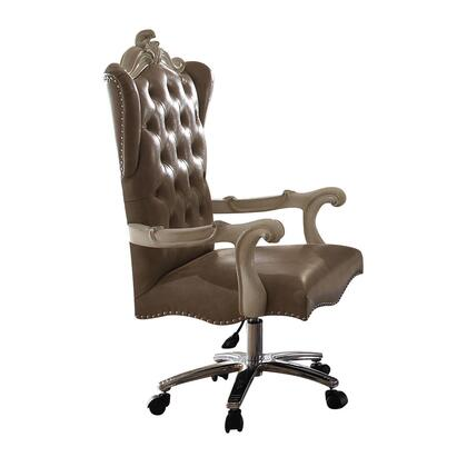 BM177724 Leather Upholstered Executive Chair With Lift in Brown and Bone White