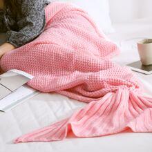1 Stueck Strick Decke mit Meerjungfrau Design
