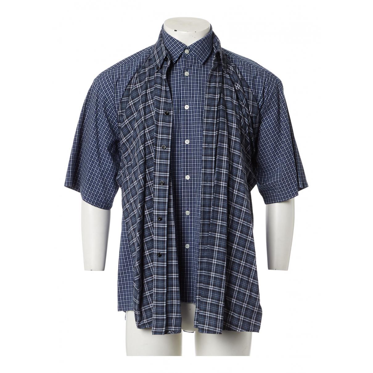 Balenciaga - Chemises   pour homme en coton - marine