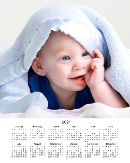 Calendar 16x20 Poster, Home Décor -2021 Calendar Bottom