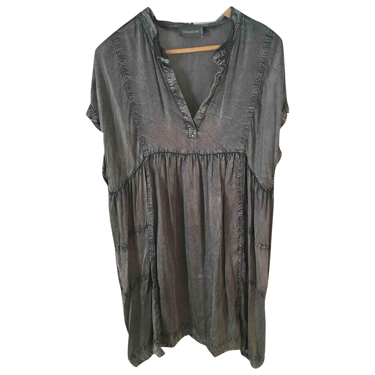Zadig & Voltaire \N Kleid in  Grau Viskose