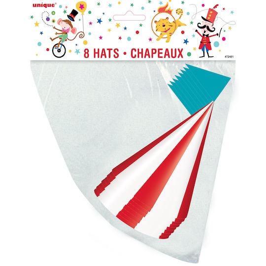 Carnival Circus Party Hats, 8Ct By Unique | Michaels®