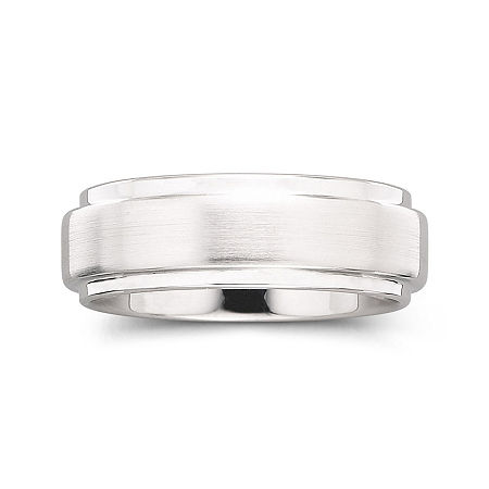 Personalized Mens 8mm Comfort Fit Tungsten Carbide Wedding Band, 11 , No Color Family