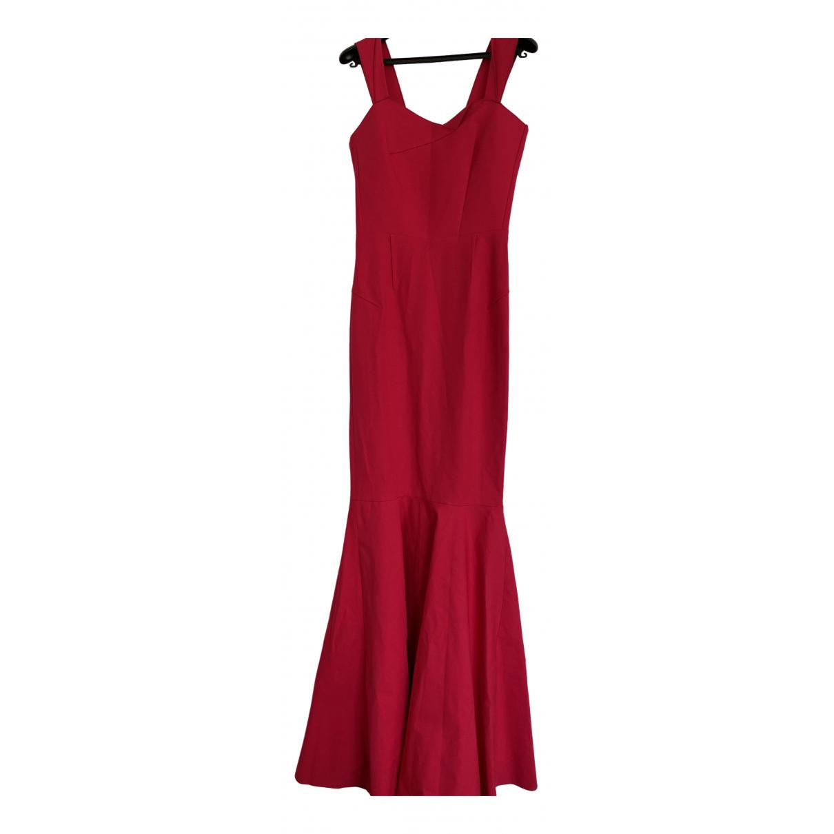 Roland Mouret \N Kleid in  Rot Baumwolle