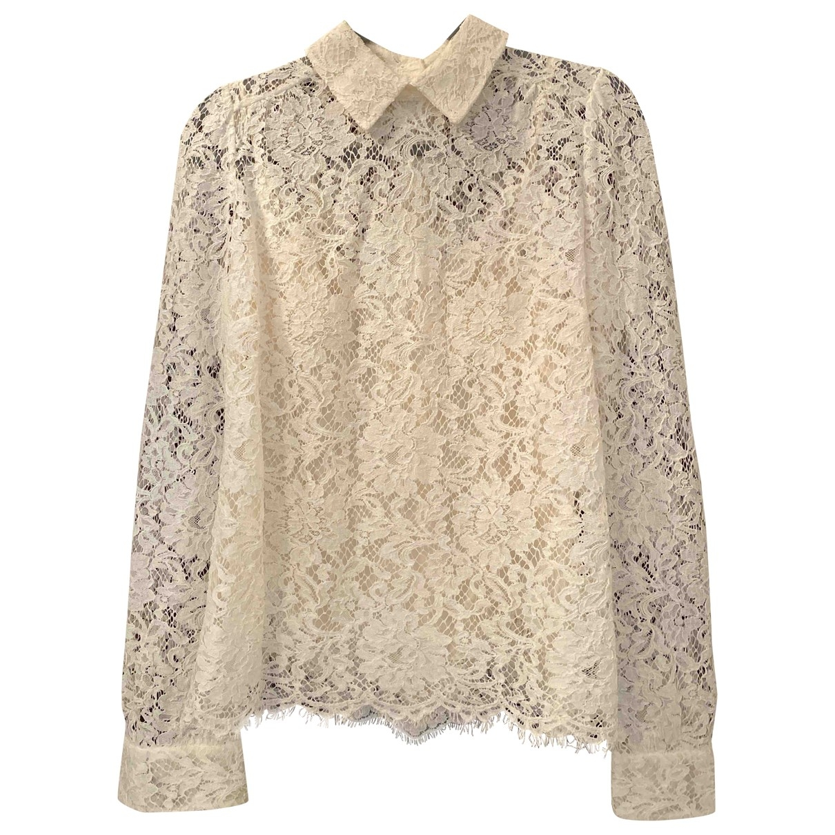 Dolce & Gabbana \N White Lace  top for Women 38 IT