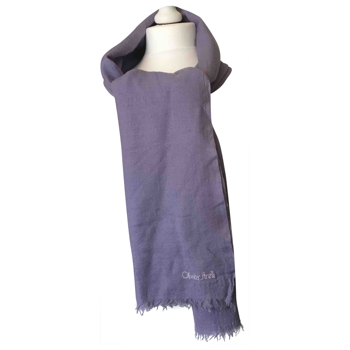 Non Signé / Unsigned Hippie Chic Purple Wool scarf for Women \N