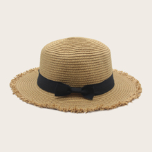 Bow Decor Straw Hat