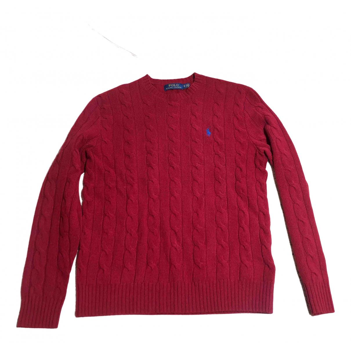 Polo Ralph Lauren - Pulls.Gilets.Sweats   pour homme en laine - rouge