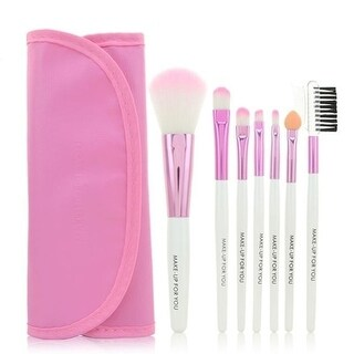 Colorful Professional Soft Cosmetic Makeup Brush Set Blush Brush + Pouch Bag Case (Pink)