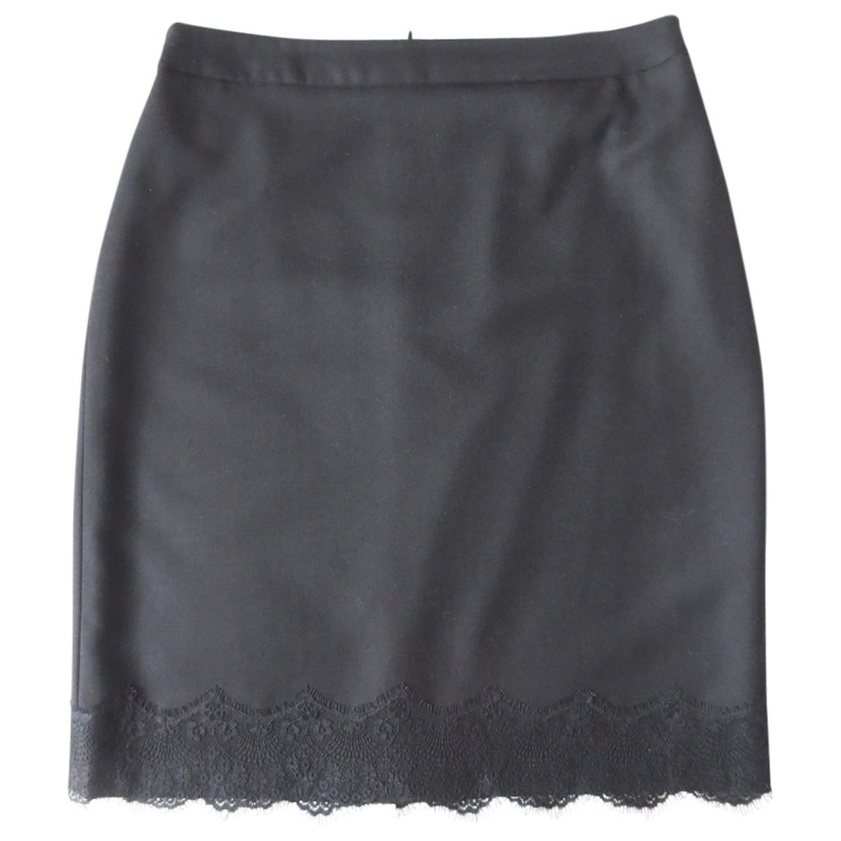 Zapa - Jupe   pour femme en laine - noir