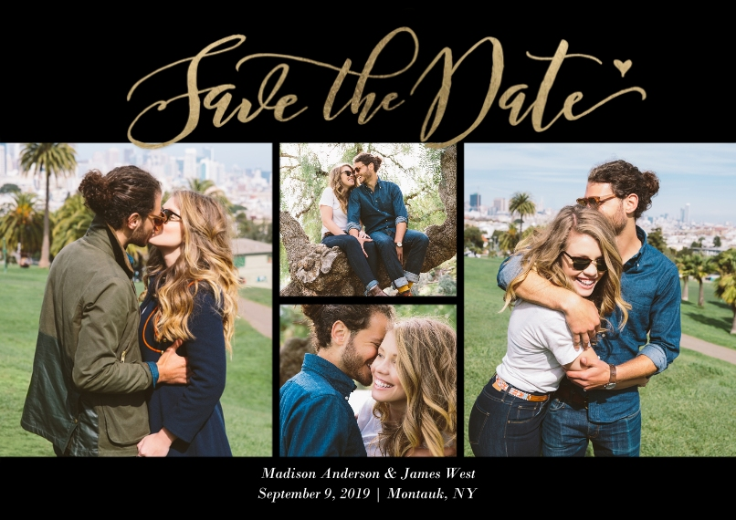 Save the Date 5x7 Cards, Premium Cardstock 120lb, Card & Stationery -Save the Date Fancy Script