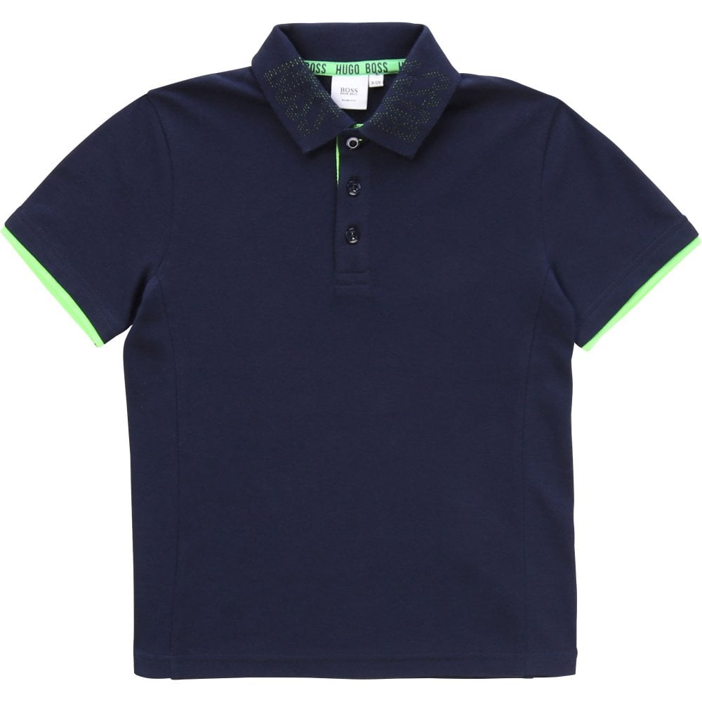 Hugo Boss Reverse Logo Polo Navy Colour: NAVY, Size: 8 YEARS