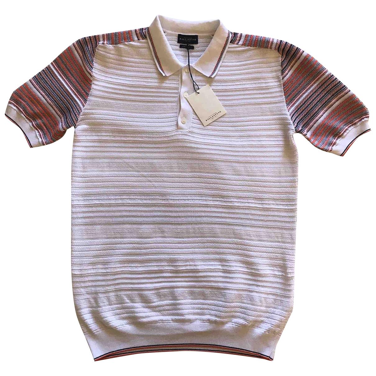 Ballantyne - Polos   pour homme en coton - blanc