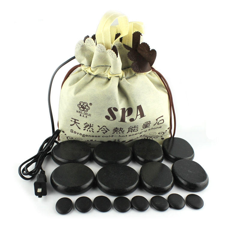 16Pcs Natural Energy Hot Stone Set SPA Hot Stone Massage
