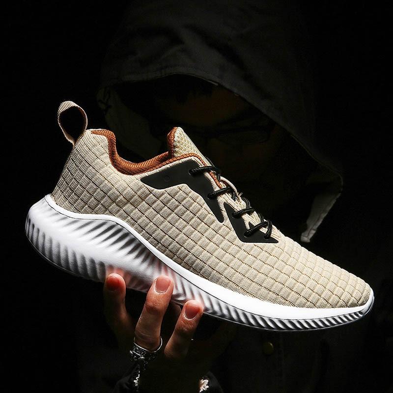 Ericdress Plaid Mesh Lace-Up Low-Cut Upper Men's Sneakers