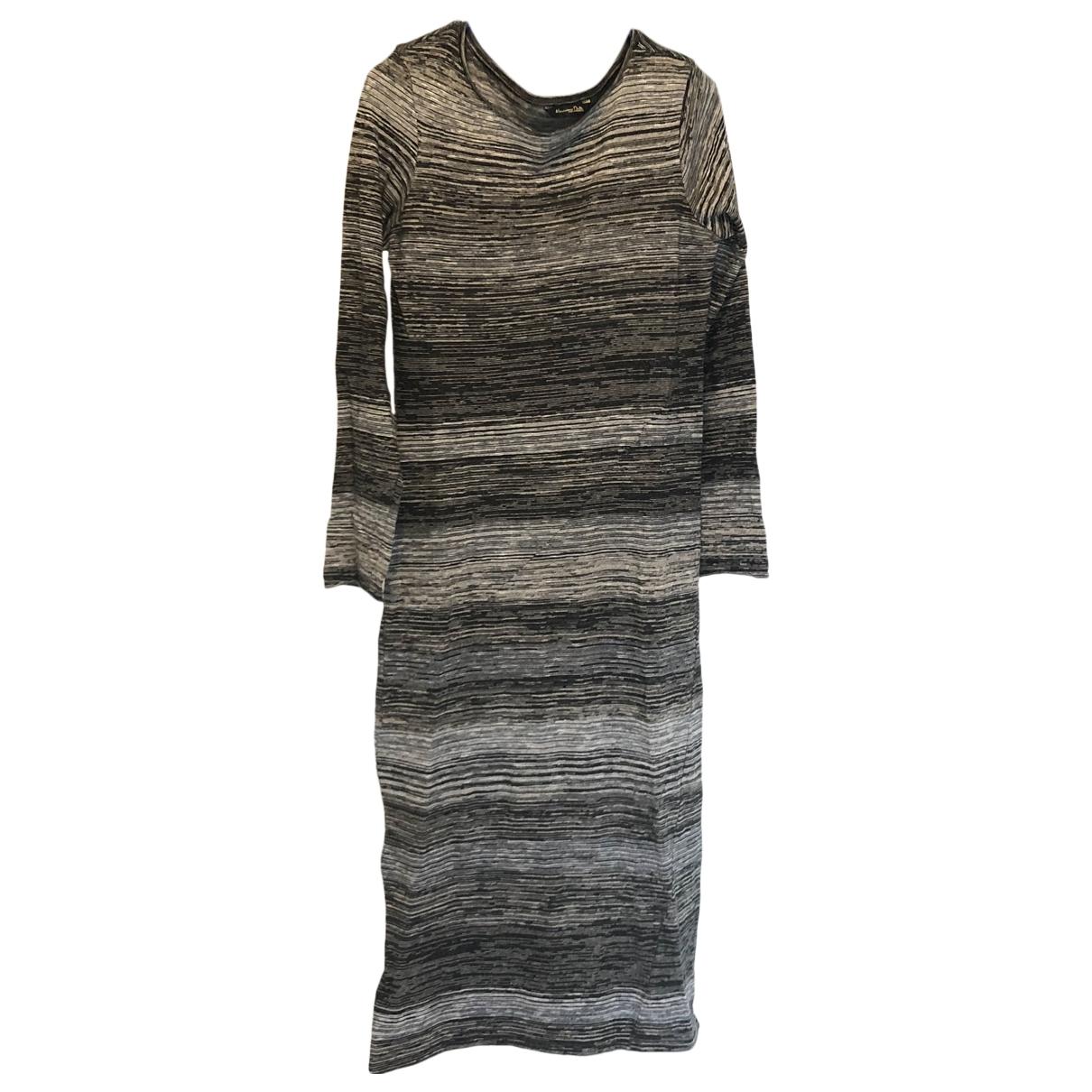 Massimo Dutti - Robe   pour femme en coton - marron