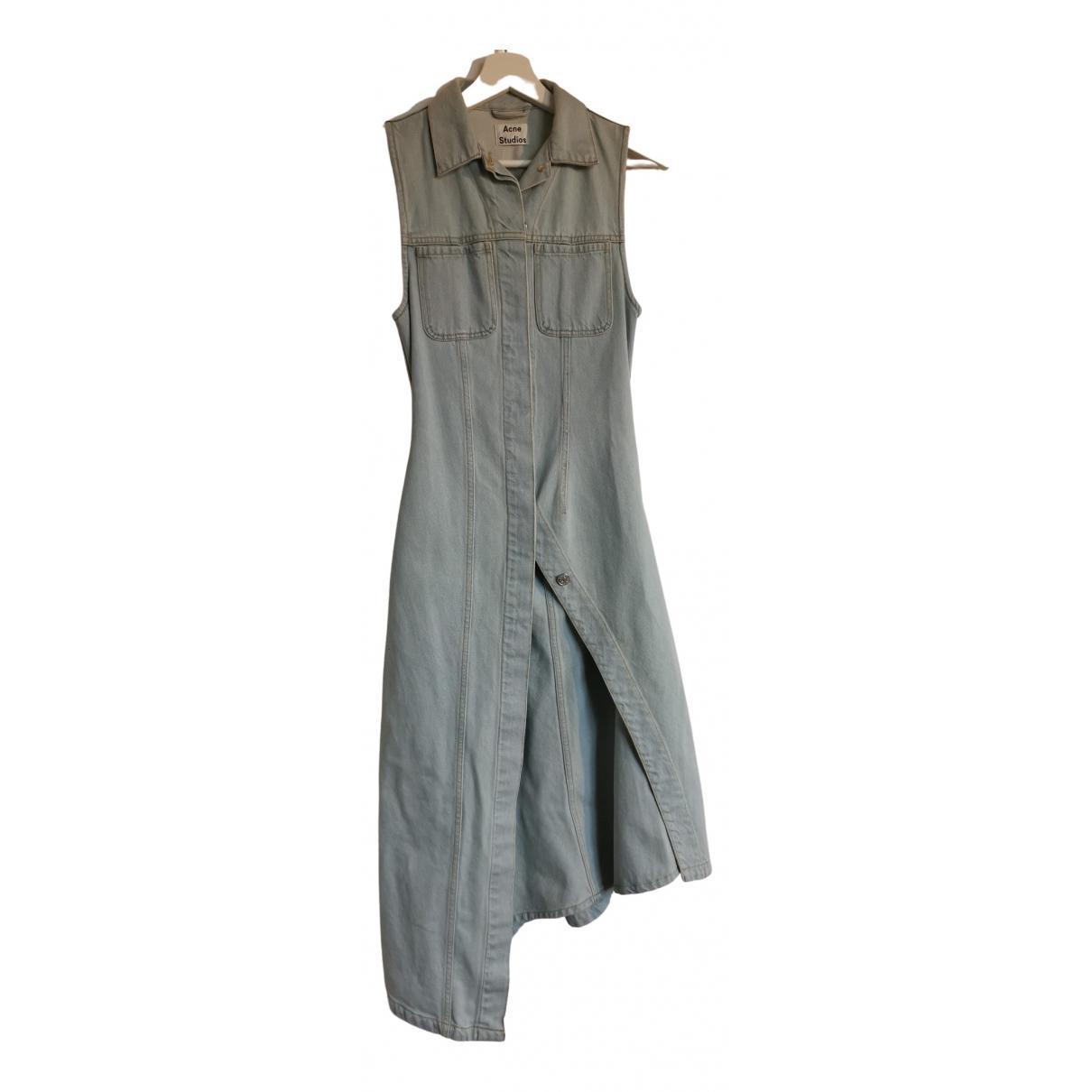 Acne Studios \N Kleid in  Blau Denim - Jeans