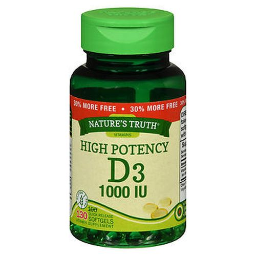 Natures Truth High Potency Vitamin D3 Quick Release Softgels 150 Caps by Natures Truth