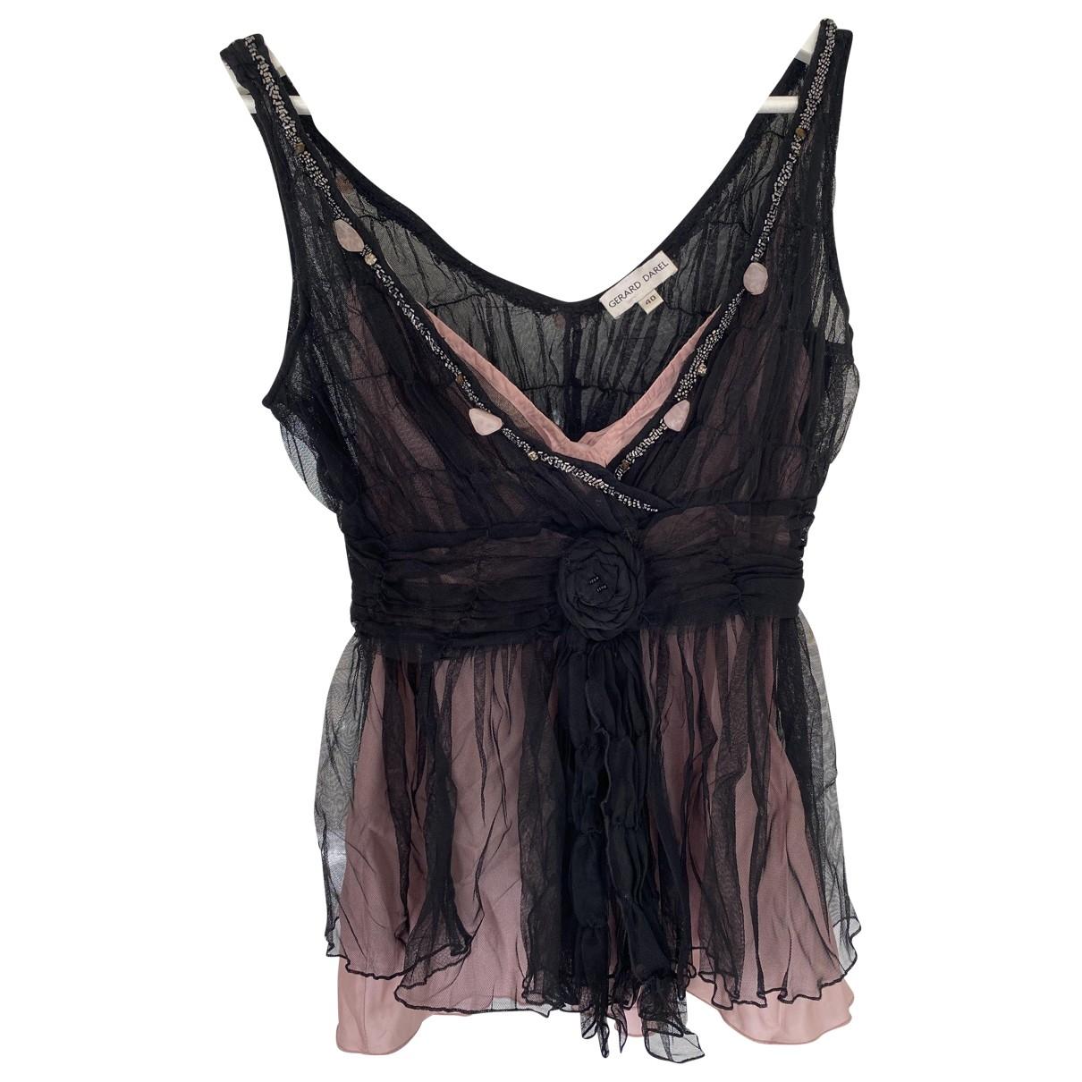 Gerard Darel \N Black Silk  top for Women 40 FR