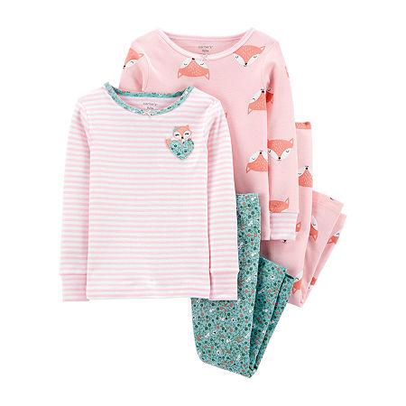 Carter's Toddler Girls 4-pc. Pajama Set, 2t , Pink