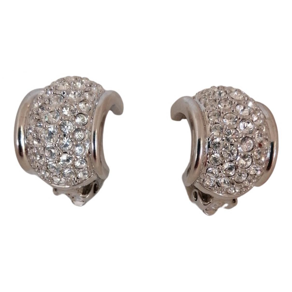 Swarovski - Boucles doreilles   pour femme en plaque argent - argente