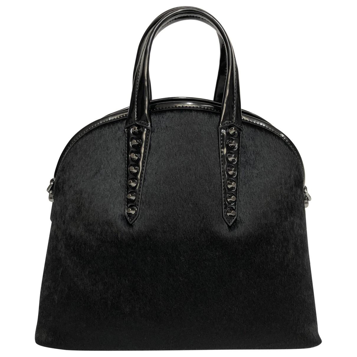Trussardi Jeans \N Handtasche in  Schwarz Synthetikpelz