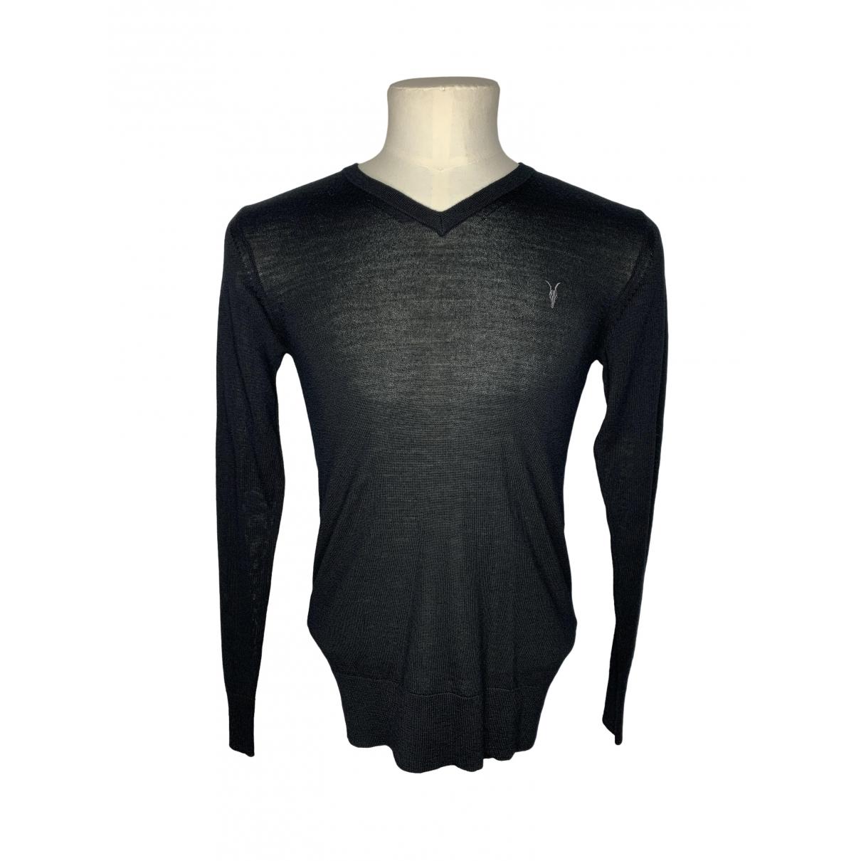 All Saints \N Black Wool Knitwear & Sweatshirts for Men XS International