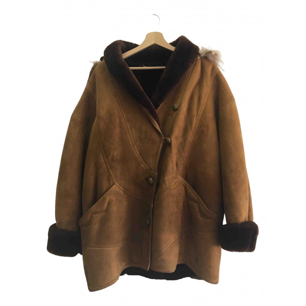 Shearling - Veste   pour femme en cuir - marron