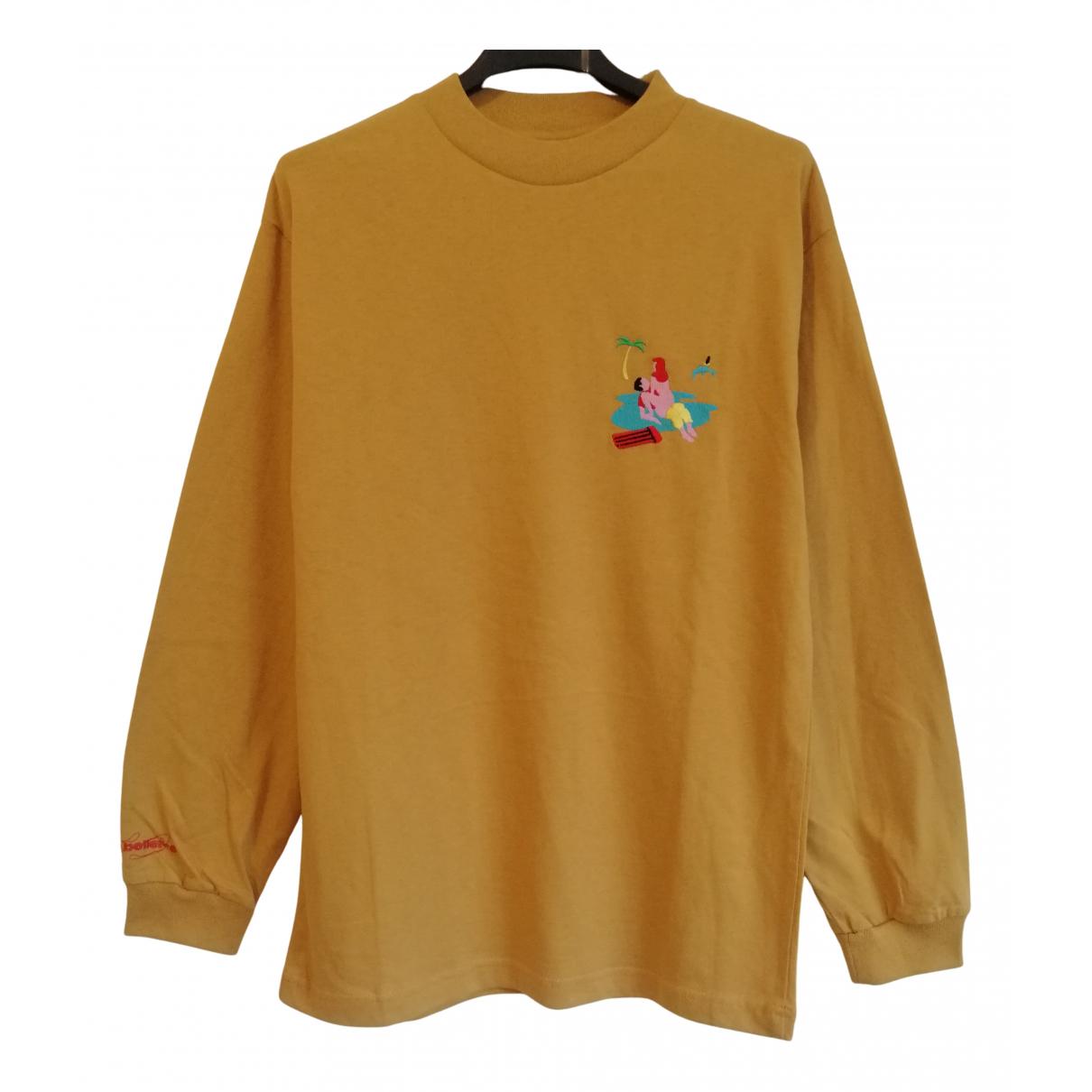 Carne Bollente \N Pullover.Westen.Sweatshirts  in  Gelb Baumwolle