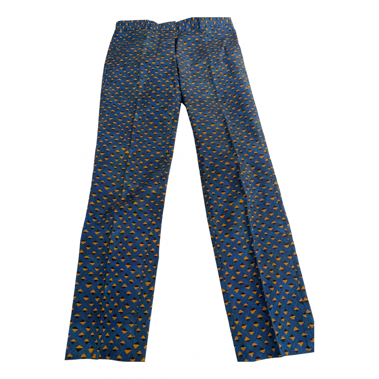 Mauro Grifoni - Pantalon   pour femme en coton - bleu