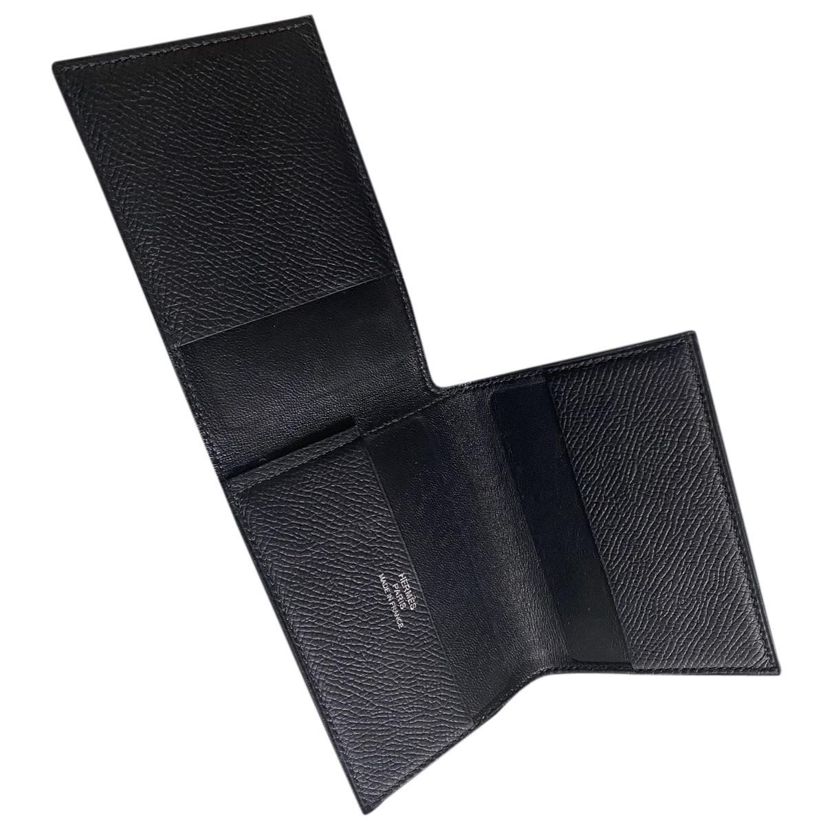 Hermes - Petite maroquinerie Guernesey 3CC pour homme en cuir - noir