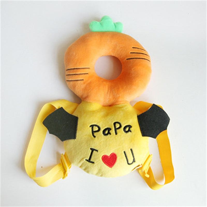 Buckle PP Cotton 1-Piece Orange Anti-Tumbling Toddlers Pillow
