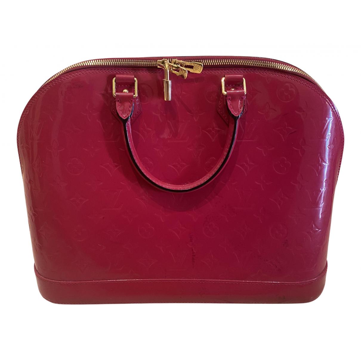 Louis Vuitton Alma Red Patent leather handbag for Women N