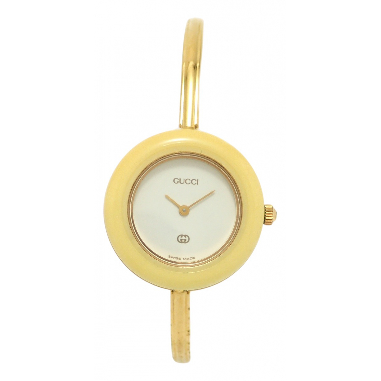 Gucci - Montre   pour femme en plaque or - jaune