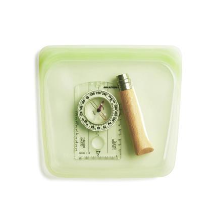 Reusable Sandwich Bag, Green - Stasher