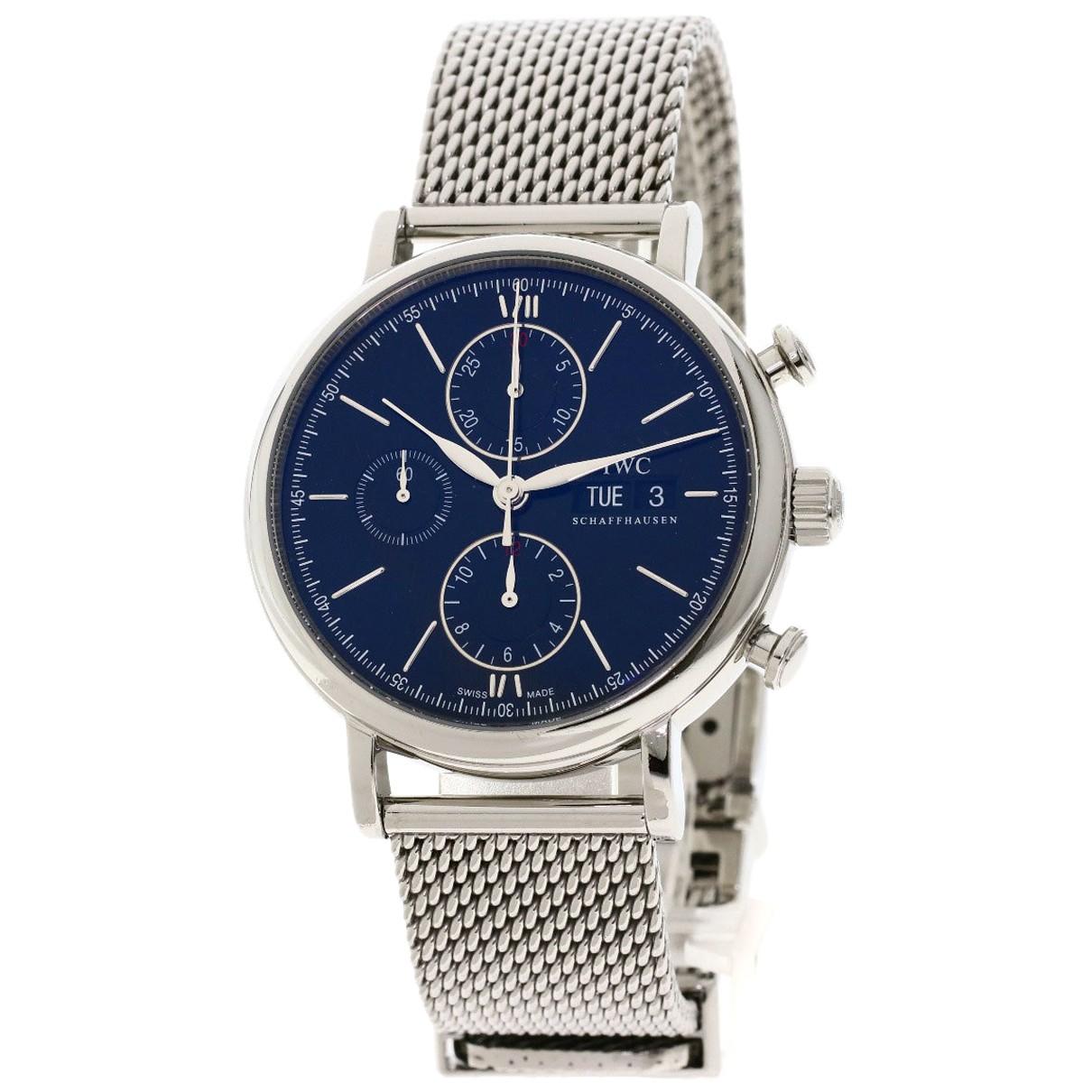 Iwc Portofino Uhr in  Silber Stahl