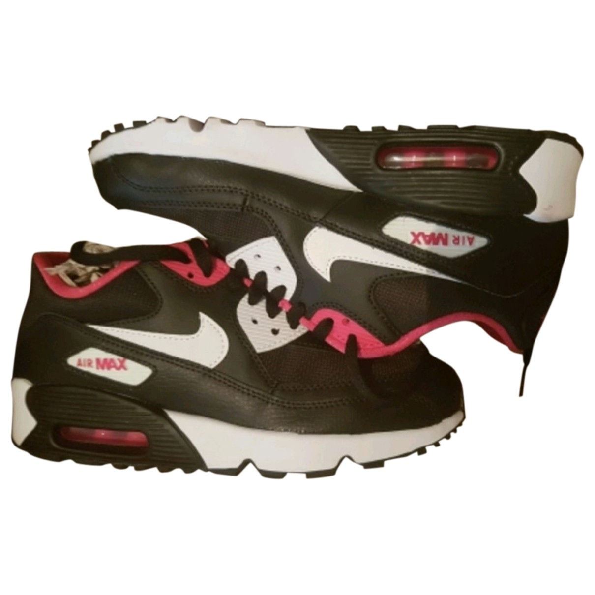 Nike Air Max 90 Black Leather Trainers for Women 38 EU