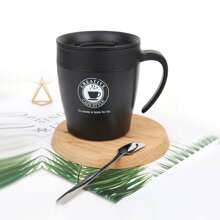Taza de cafe con cuchara