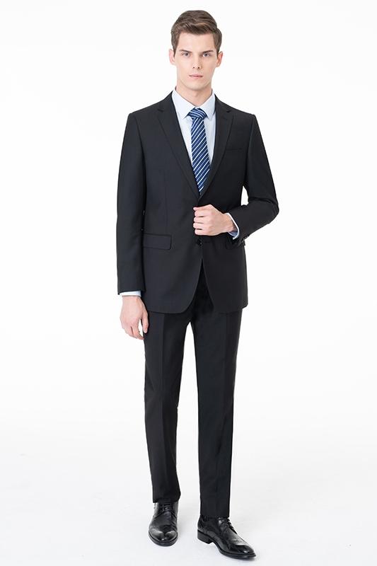 Fashion Single Breasted Two Button Peak Lapel Dos Piezas con Pantalones