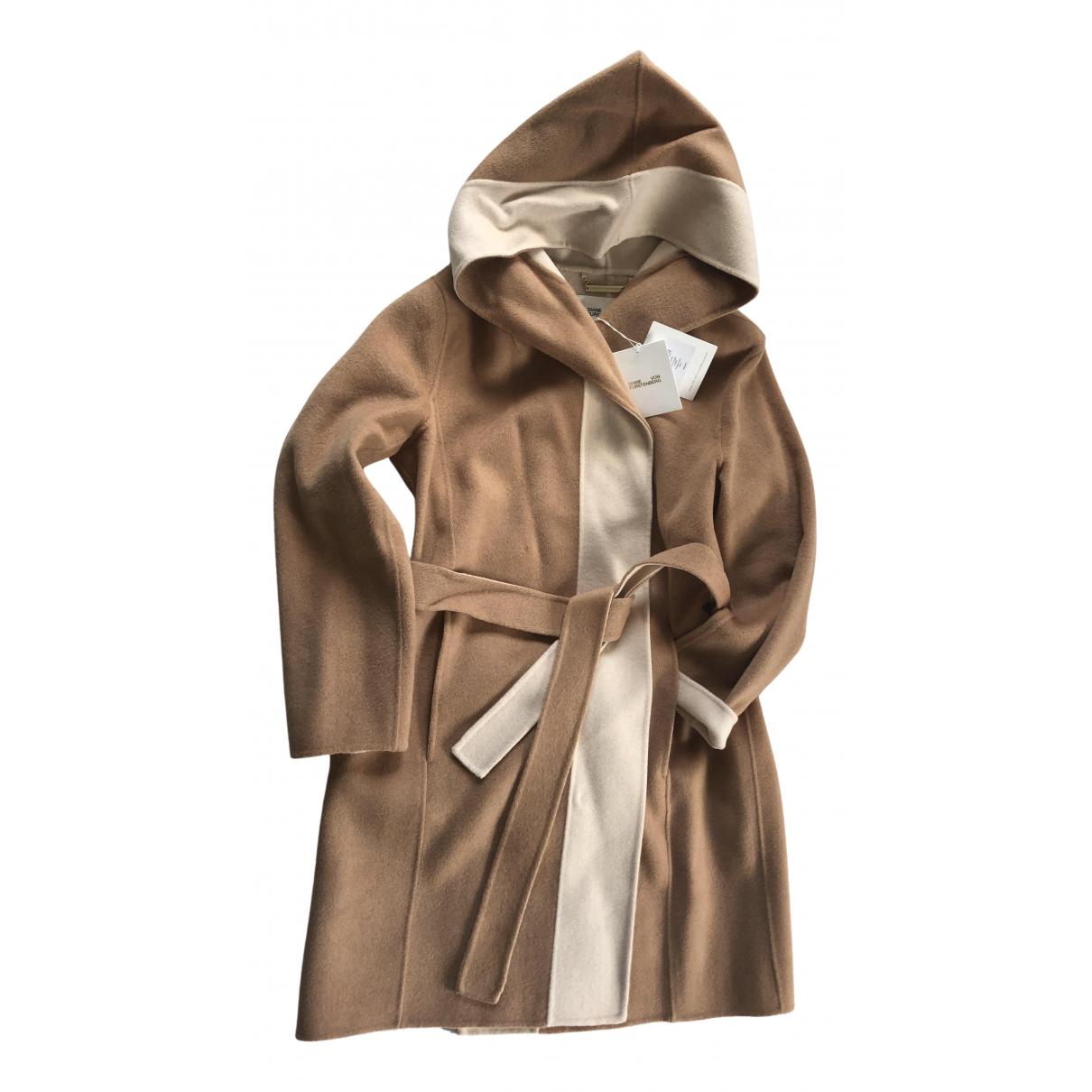 Diane Von Furstenberg - Manteau   pour femme en laine - camel