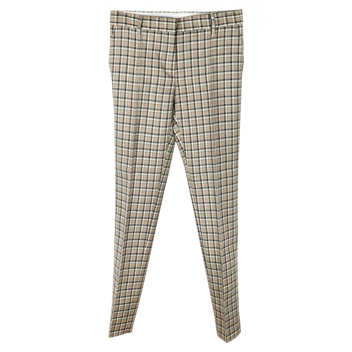 Mulberry \N Grey Wool Trousers for Women 46 IT