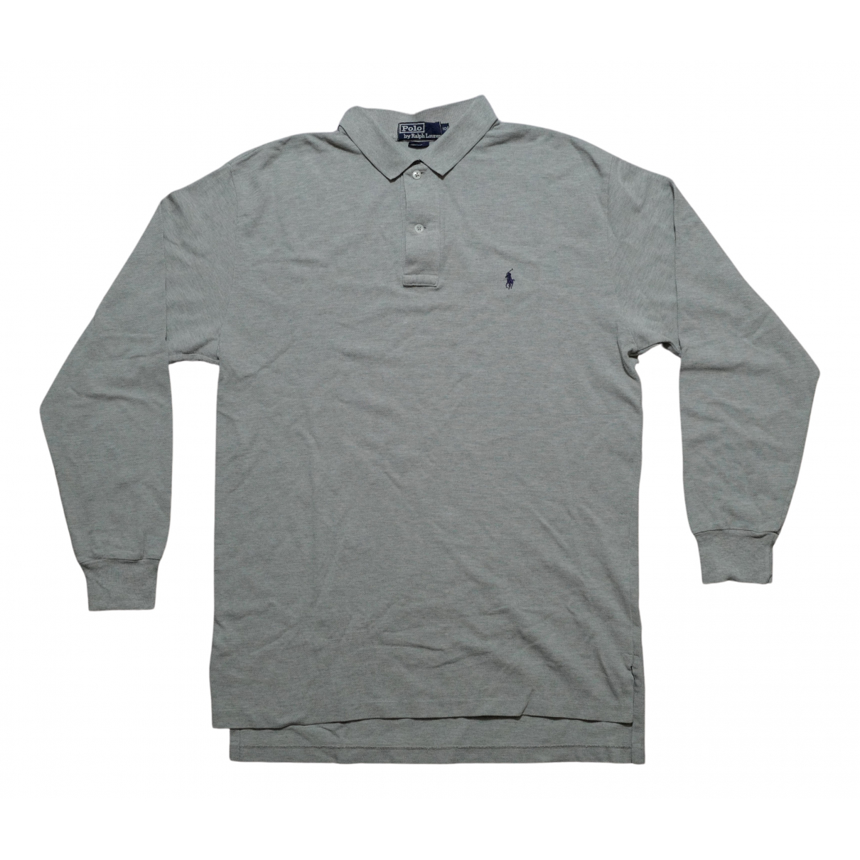 Polo Ralph Lauren Polo classique manches longues Grey Cotton Polo shirts for Men M International
